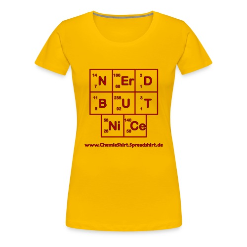 nerd_but_nice_rot_schwarz - Frauen Premium T-Shirt