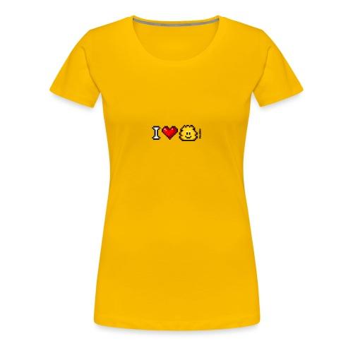 I Love Knuddels - Frauen Premium T-Shirt