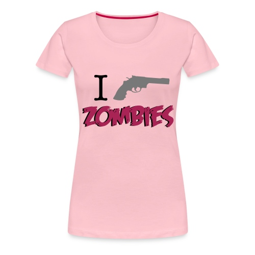 I love zombies - Camiseta premium mujer