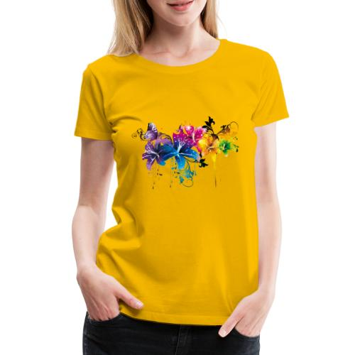 flower1 - Frauen Premium T-Shirt