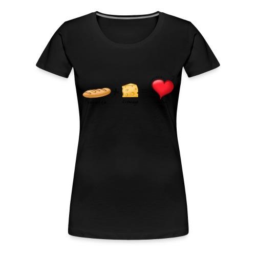 bread cheese boopee black - Women's Premium T-Shirt