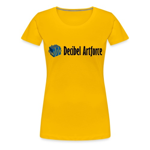Decibel Artforce Logo (transparent) - Frauen Premium T-Shirt