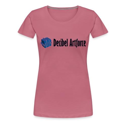 Decibel Artforce Logo (transparent) - Frauen Premium T-Shirt