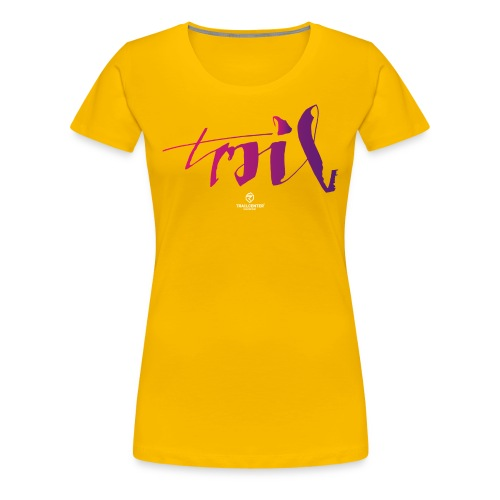 trail_brush_lady - Frauen Premium T-Shirt