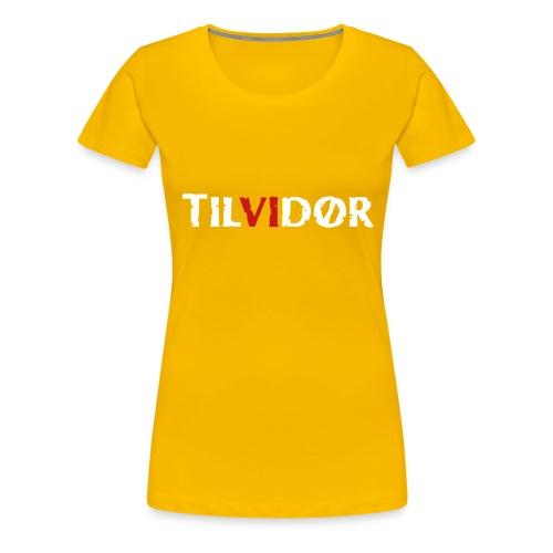 TILVIDØR LOGO - Dame premium T-shirt