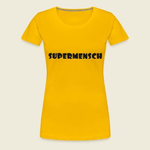 Supermensch in schwarz 2 - Frauen Premium T-Shirt