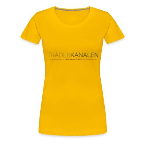Traderkanalen BRAND - Premium-T-shirt dam
