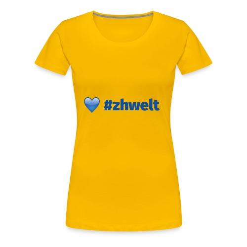 ZHWELT LOGO rechts - Frauen Premium T-Shirt