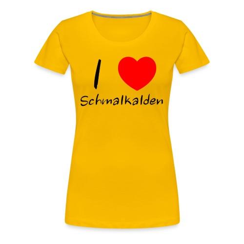 Ein Herz für Schmalkalden - Frauen Premium T-Shirt