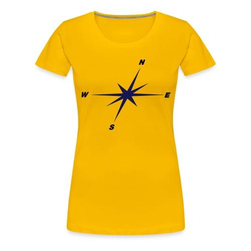 Kompassrose - Frauen Premium T-Shirt