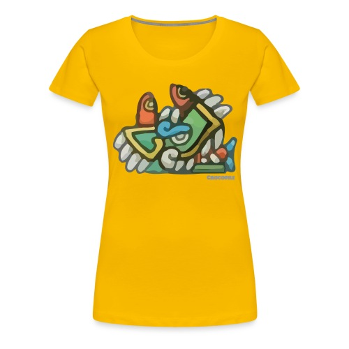 Aztec Crocodile - Women's Premium T-Shirt