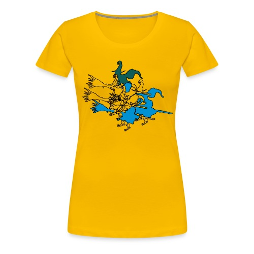Witches on broomsticks Men's T-Shirt - Women's Premium T-Shirt