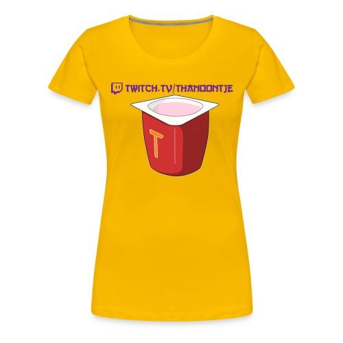 Snapback Thanoontje logo - Women's Premium T-Shirt