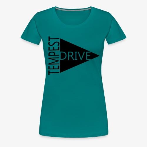 Komprimeret logo - Dame premium T-shirt