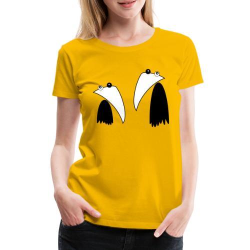 Raving Ravens - black and white 1 - Frauen Premium T-Shirt