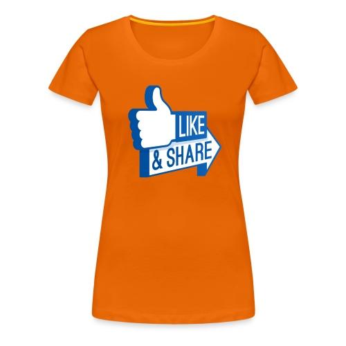 Like & Share (Facebook) - Maglietta Premium da donna
