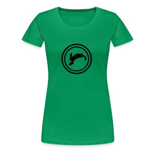 Bunny_Black2 - Dame premium T-shirt