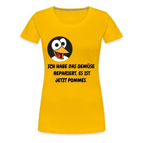 Ich habe das Gemüse repariert - Frauen Premium T-Shirt