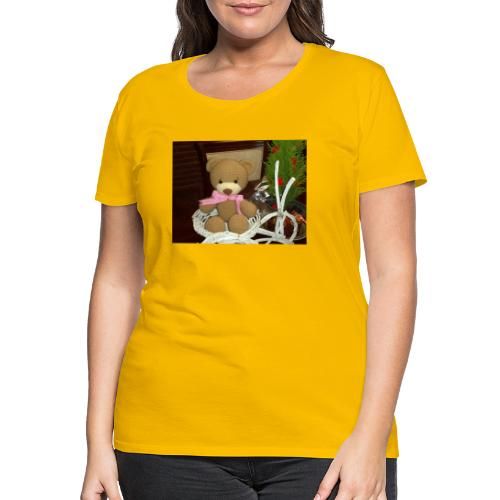 Oso amigurumi de crochet hecho a mano,suave - Camiseta premium mujer