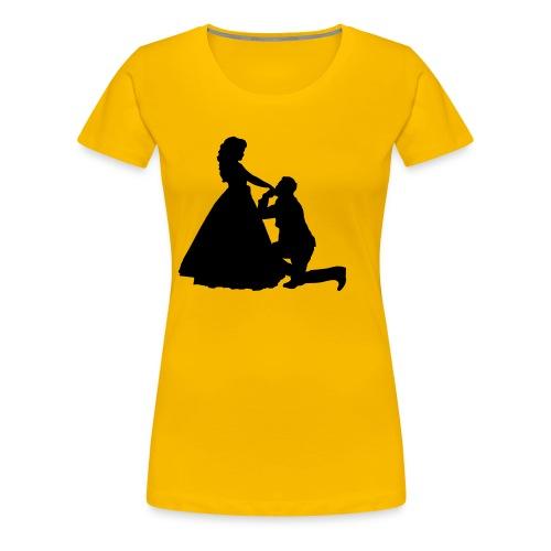 Kniender Mann vor Frau Prinzessin - Frauen Premium T-Shirt