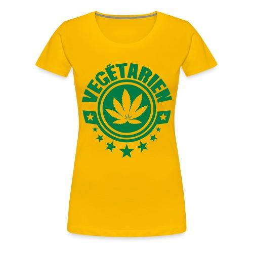 vegetarien feuille cannabis logo - T-shirt Premium Femme