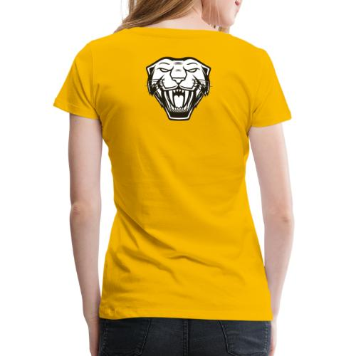 Psybearslat Panther (Back) - Women's Premium T-Shirt