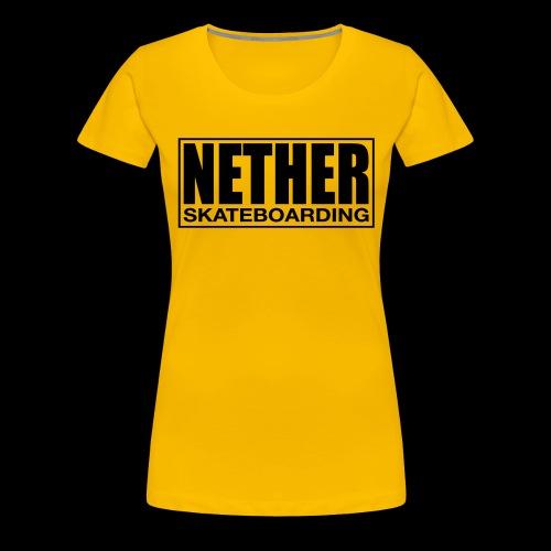Nether Skateboarding T-shirt White - Maglietta Premium da donna
