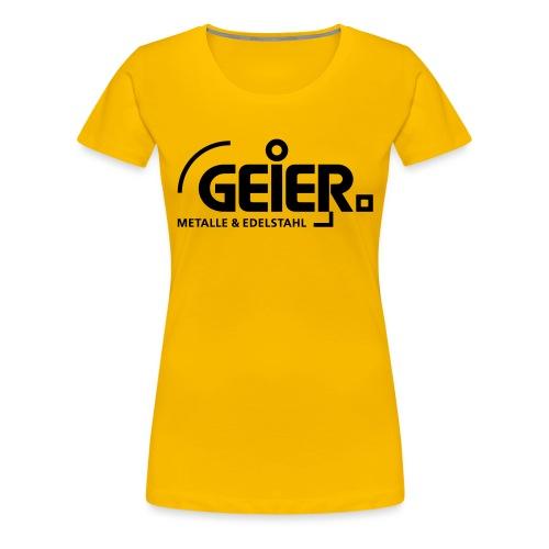 Sponsor Geier Metalle - Frauen Premium T-Shirt