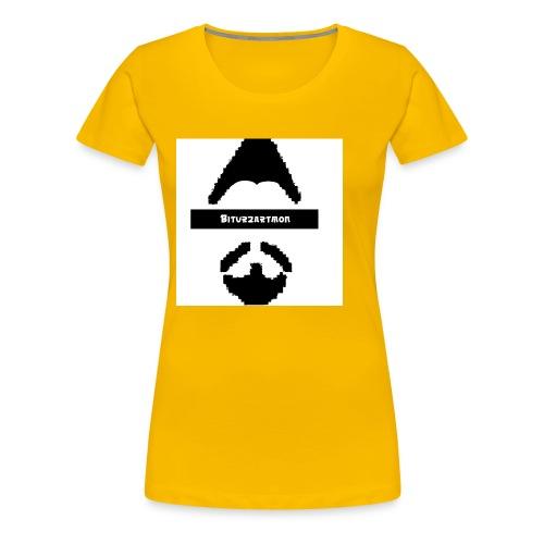 Biturzartmon Logo schwarz/weiss asiatisch - Frauen Premium T-Shirt
