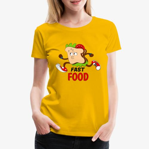 FAST FOOD - Camiseta premium mujer