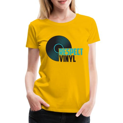 Blue Note • Respect Vinyl - Frauen Premium T-Shirt