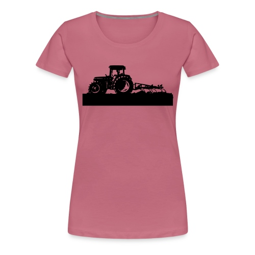 Tractor with cultivator - Women's Premium T-Shirt