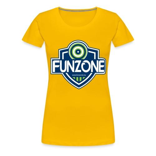 Funzone_logo_ljus_bakgrund - Premium-T-shirt dam