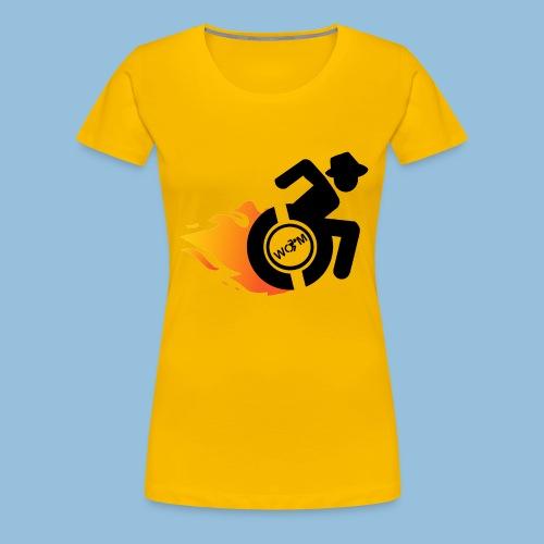 Roller met vlammen 014 - Vrouwen Premium T-shirt