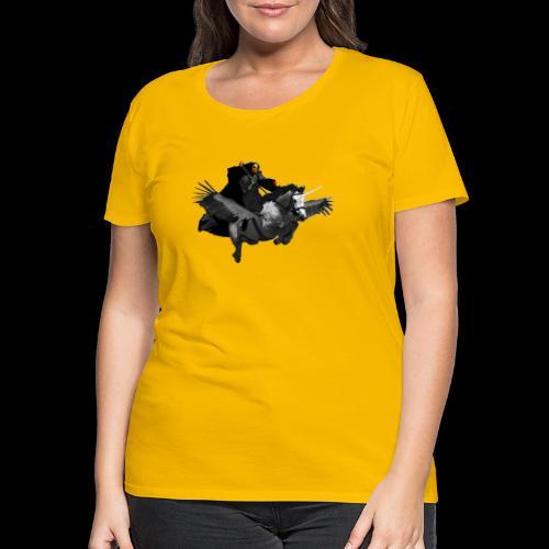 PC39 Ghost and winged unicorn - Camiseta premium mujer