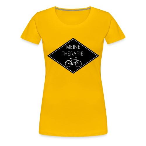 Meine Therapie: Fahrrad (BLACK) - Frauen Premium T-Shirt