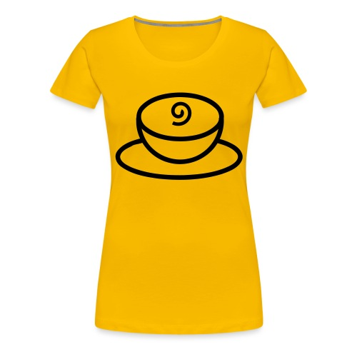 Kaffeetasse - Frauen Premium T-Shirt