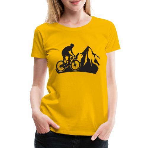 Mountainbike - Bergliebe - Frauen Premium T-Shirt