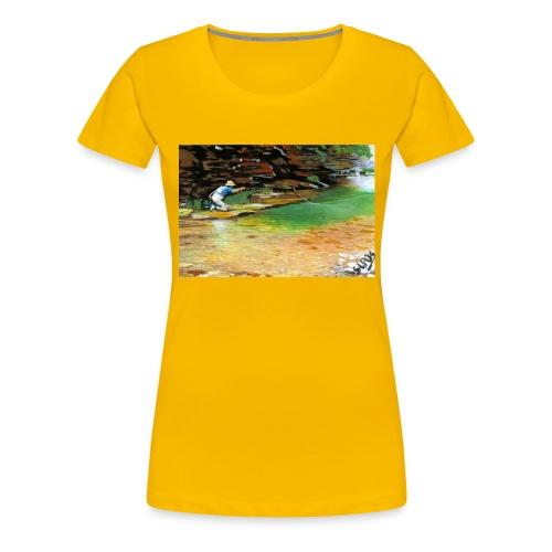 Pescatore_in_lama_solitaria - Maglietta Premium da donna