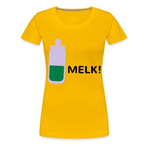 Grappige Rompertjes: Melk - Vrouwen Premium T-shirt