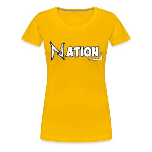 Nation Logo Design - Women's Premium T-Shirt