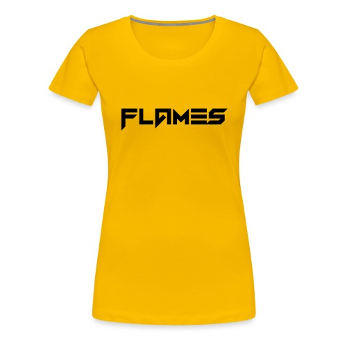 Futuristic Flames Logo - Women's Premium T-Shirt