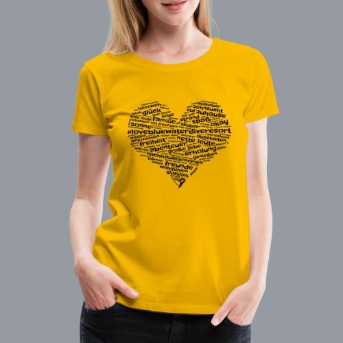 #lovebluewaterdiveresort - Frauen Premium T-Shirt