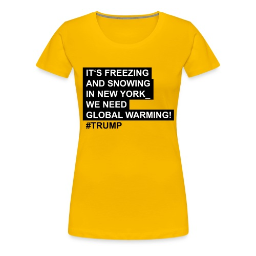 Global_warming - Frauen Premium T-Shirt