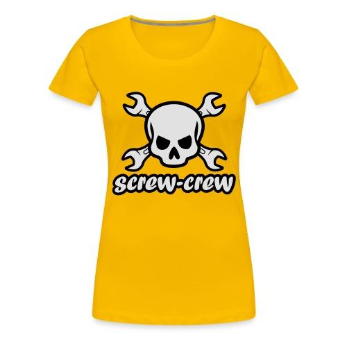 Logo_screw-crew_RZ_v.eps - Frauen Premium T-Shirt