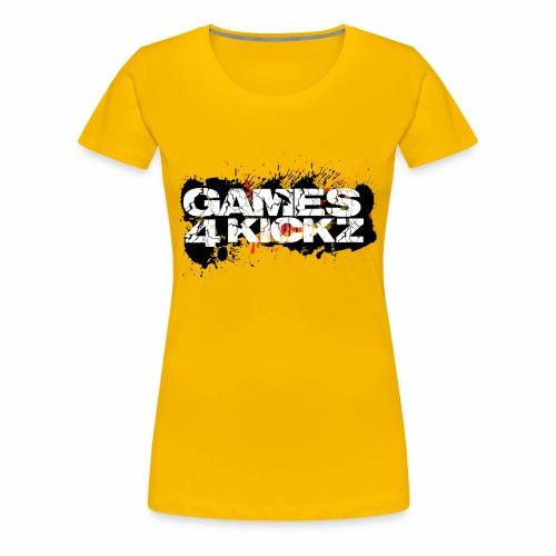 Games4Kickz Logo Splattered Background - Women's Premium T-Shirt