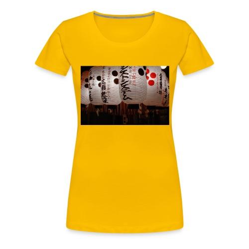 Japanische Lampions - Frauen Premium T-Shirt