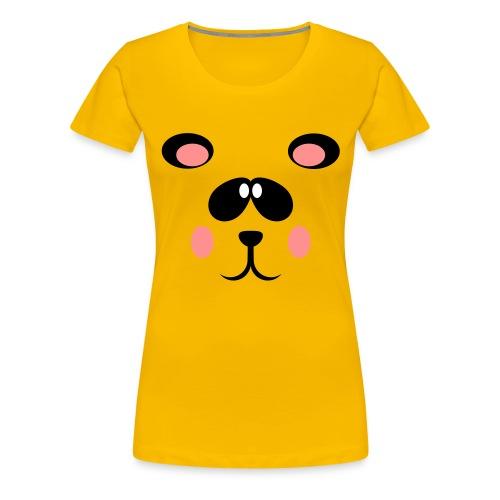 Blozende pandabeer - Vrouwen Premium T-shirt