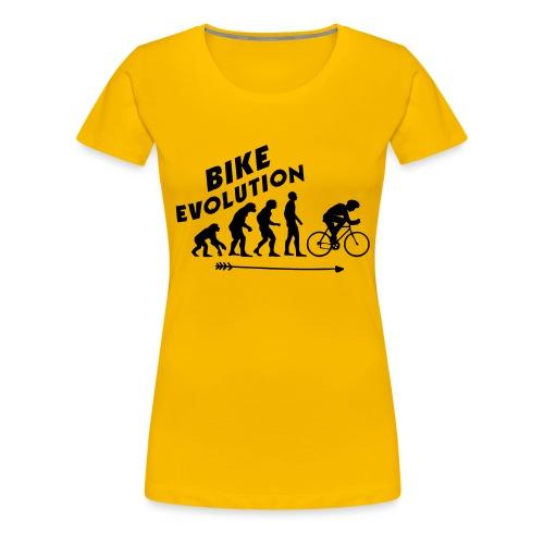 Bike Evolution (BLACK) - Frauen Premium T-Shirt