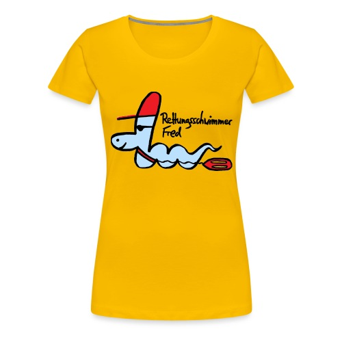 Rettungsschwimmer Fred - Frauen Premium T-Shirt
